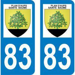 Autocollant Plaque Plan-d'Aups-Sainte-Baume 83640