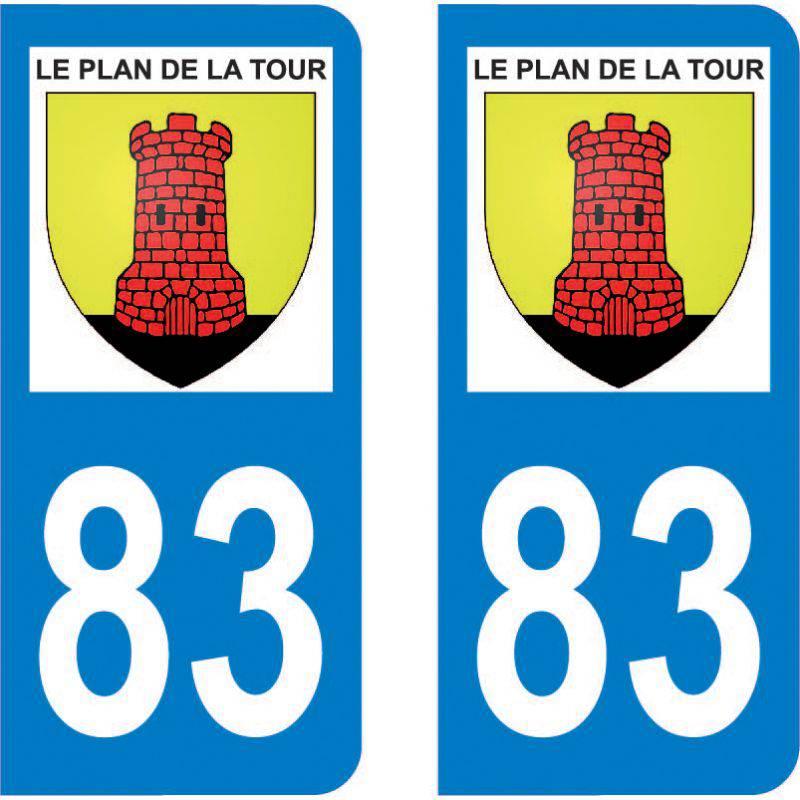 Autocollant Plaque Le Plan-de-la-Tour 83120