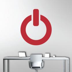 Sticker Mural Geek Power Veille Ordinateur ON-OFF - 1