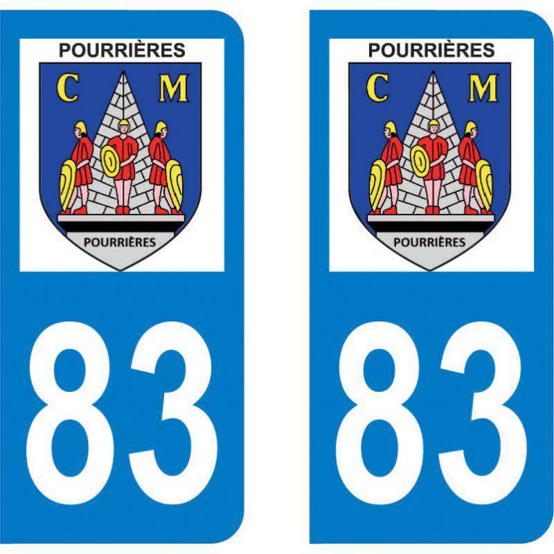 Autocollant Plaque Pourrières 83910