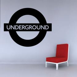 Sticker Mural Underground