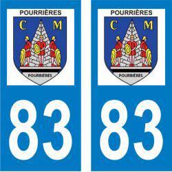 Sticker Plaque Pourrières 83910