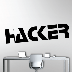 Sticker Mural Hacker
