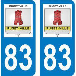 Autocollant Plaque Puget-Ville 83390