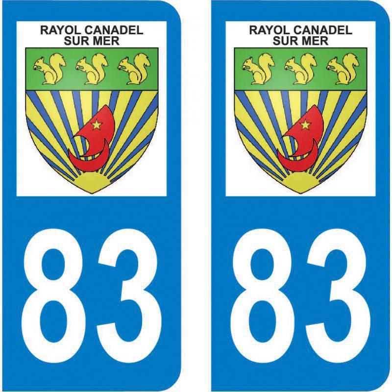 Autocollant Plaque Rayol-Canadel-sur-Mer 83820