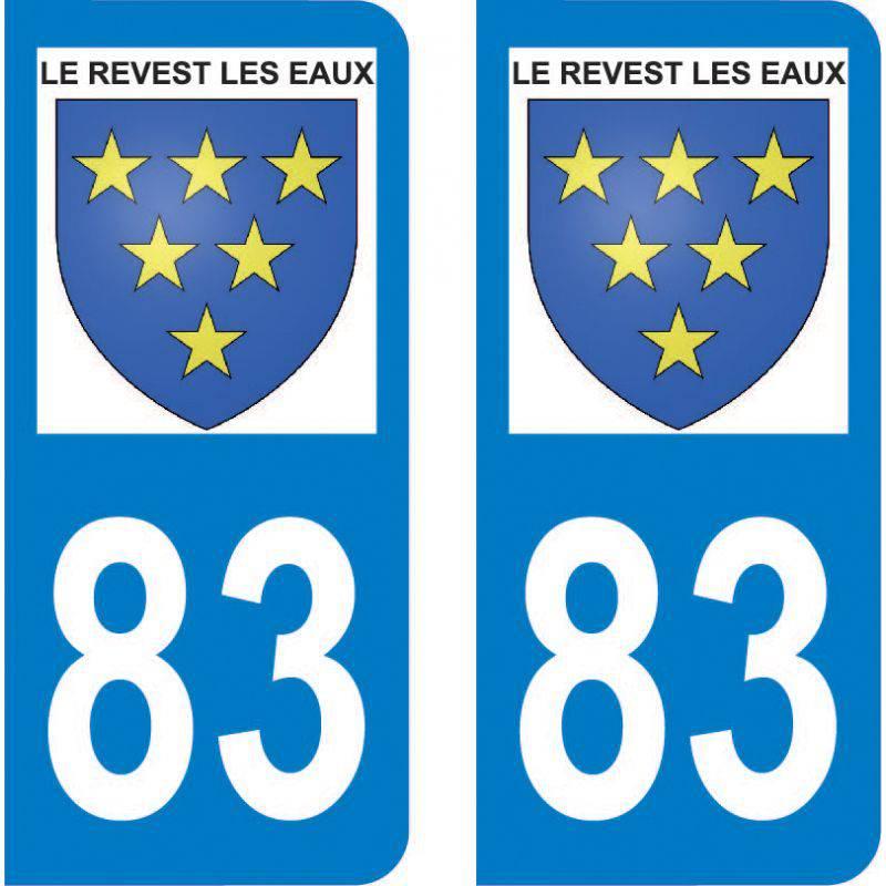 Autocollant Plaque Le Revest-les-Eaux 83200
