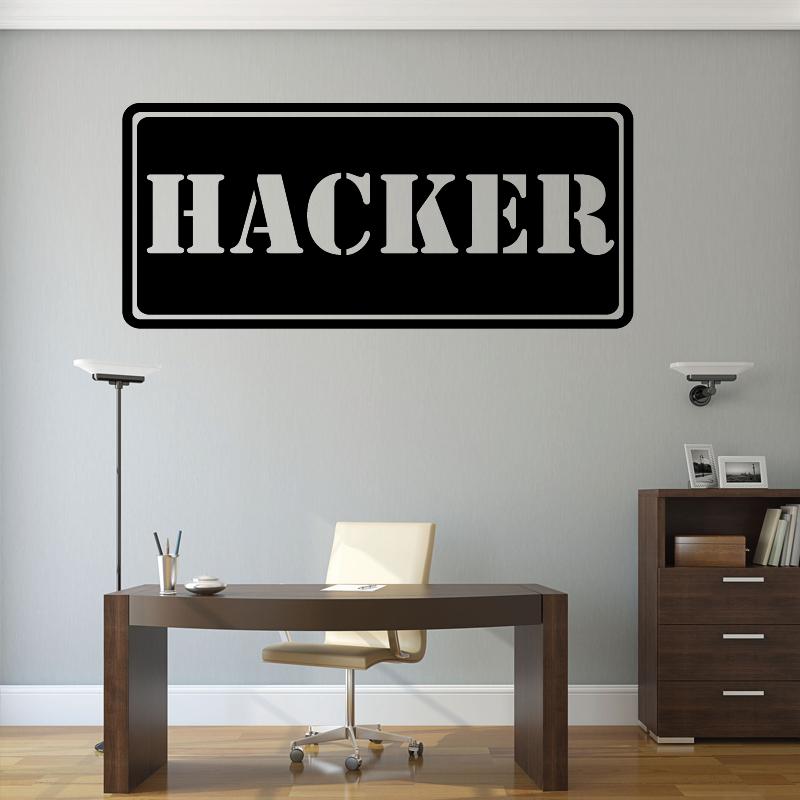 Autocollant Mural Hacker - 1