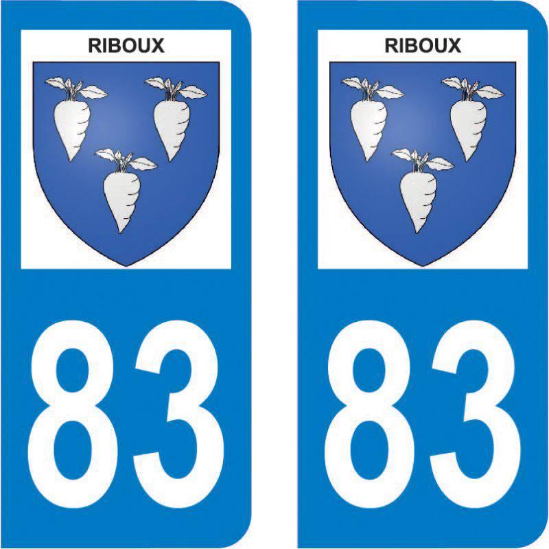 Autocollant Plaque Riboux 13780