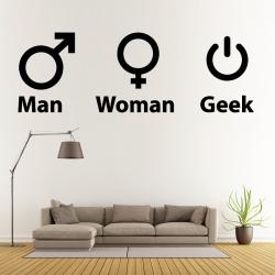Sticker Mural Symbole Geek Gamer - 1