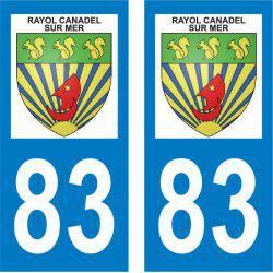 Sticker Plaque Rayol-Canadel-sur-Mer 83820