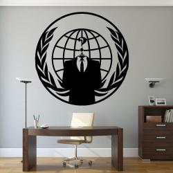 Sticker Mural Logo Anonymous Geek - 1