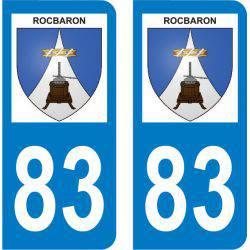 Autocollant Plaque Rocbaron 83136