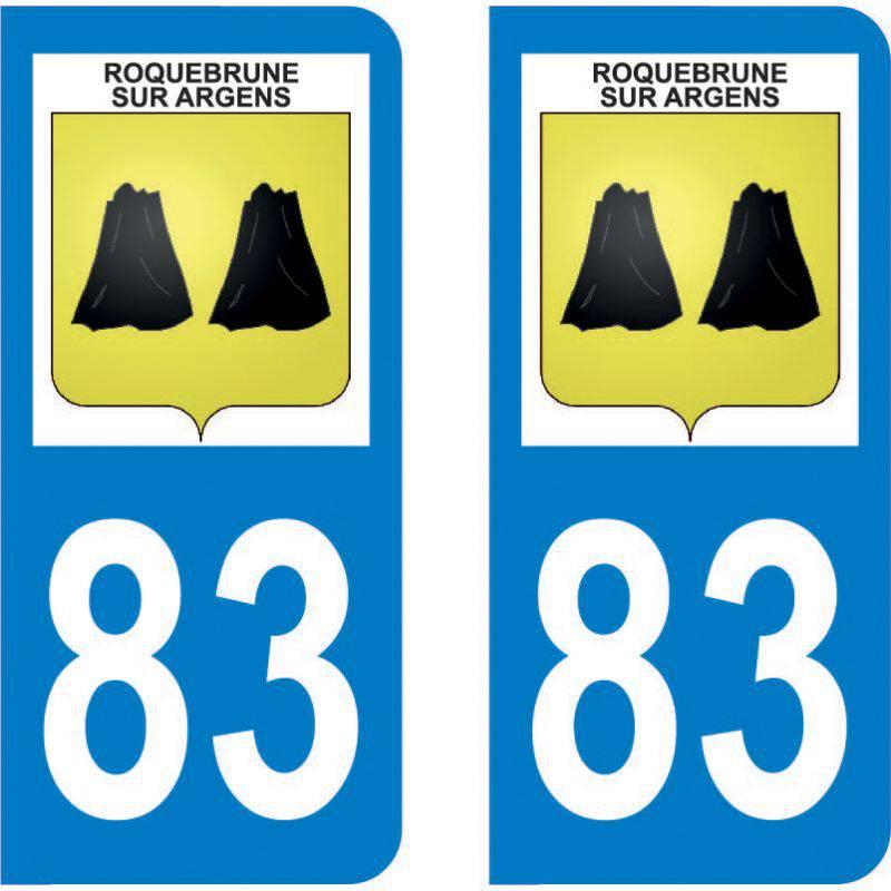 Autocollant Plaque Roquebrune-sur-Argens 83520