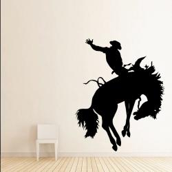 Sticker Mural Rodéo Cowboy