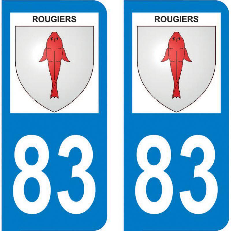 Autocollant Plaque Rougiers 83170