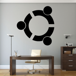 Autocollant Mural Linux Ubuntu