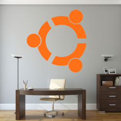 Autocollant Mural Linux Ubuntu - 1