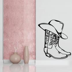 Sticker Mural Bottes CowBoy