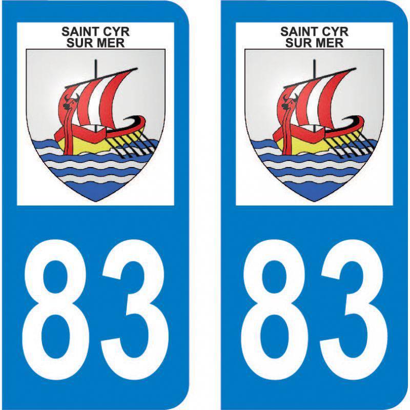 Autocollant Plaque Saint-Cyr-sur-Mer 83270