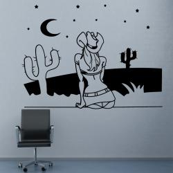 Sticker Mural Cow-boy - 1