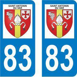 Autocollant Plaque Saint-Antonin-du-Var 83510