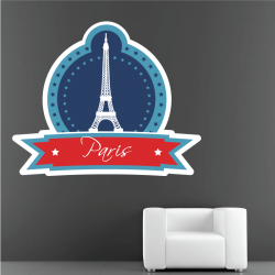 Sticker Mural Logo Paris