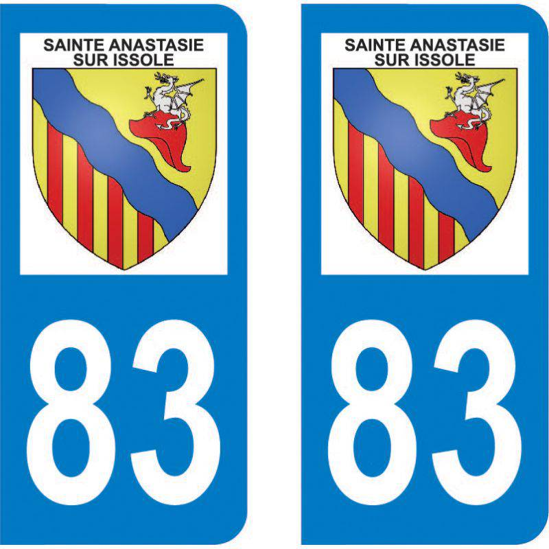 Autocollant Plaque Sainte-Anastasie-sur-Issole 83136