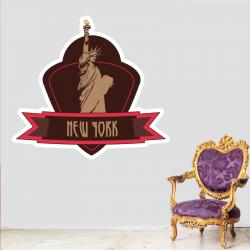 Sticker Mural Logo New York