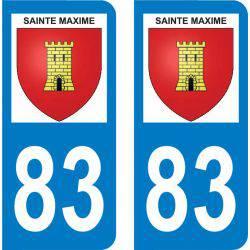 Autocollant Plaque Sainte-Maxime 83120