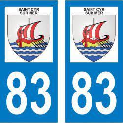 Sticker Plaque Saint-Cyr-sur-Mer 83270