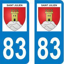 Autocollant Plaque Saint-Julien 83560