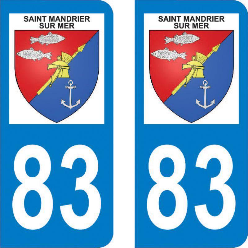 Autocollant Plaque Saint-Mandrier-sur-Mer 83430
