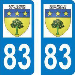 Autocollant Plaque Saint-Martin-de-Pallières 83560