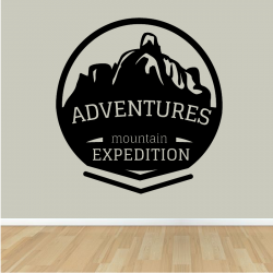 Sticker Mural Mountain Expedition - 1