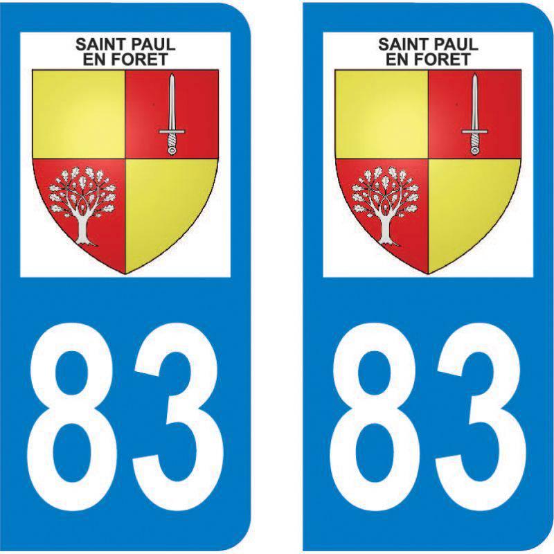 Autocollant Plaque Saint-Paul-en-Forêt 83440