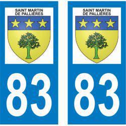 Sticker Plaque Saint-Martin-de-Pallières 83560