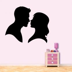 Sticker Mural Couple Amoureux