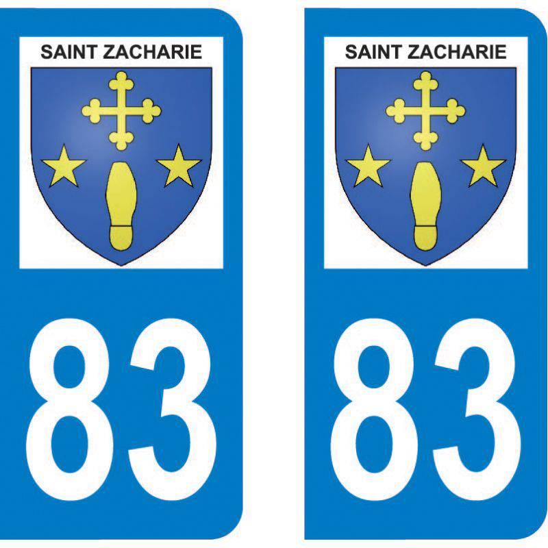 Autocollant Plaque Saint-Zacharie 83640