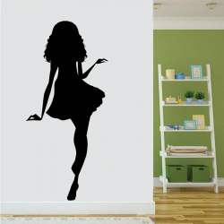 Sticker Mural Pin-Up Jupe