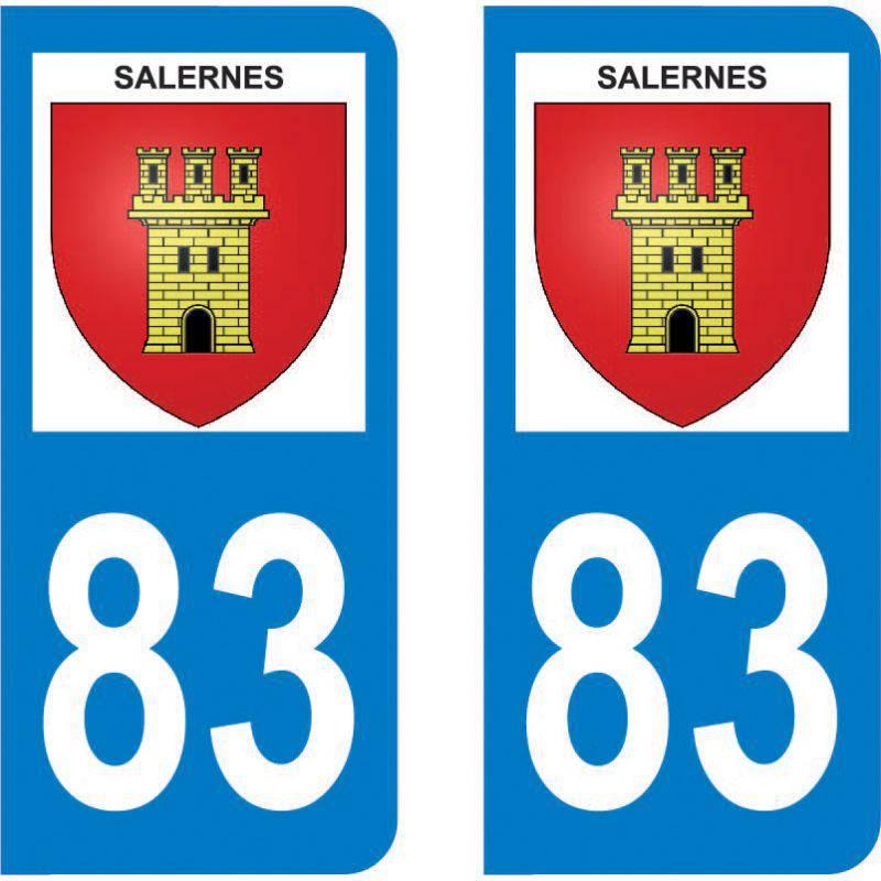 Autocollant Plaque Salernes 83690