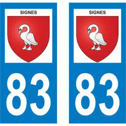 Sticker Plaque Signes 83870