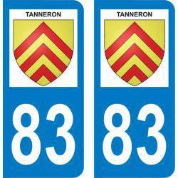 Autocollant Plaque Tanneron 83440