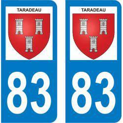 Autocollant Plaque Taradeau 83460