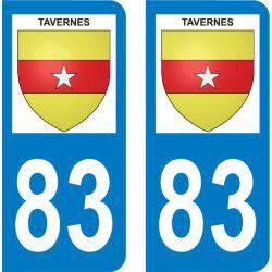 Autocollant Plaque Tavernes 83670