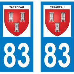 Sticker Plaque Taradeau 83460
