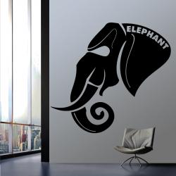 Sticker Mural Elephant