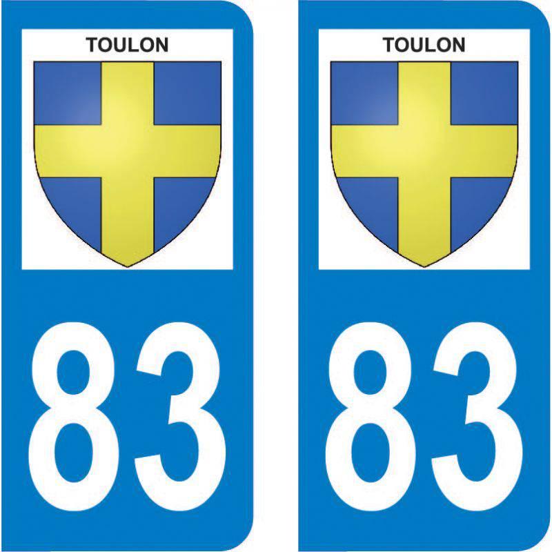 Autocollant Plaque Toulon 83000