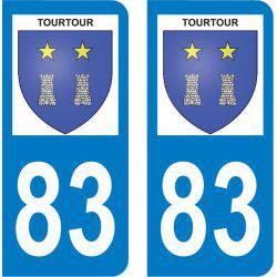 Autocollant Plaque Tourtour 83690
