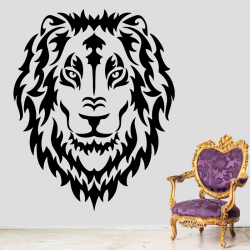 Sticker Mural Lion Face