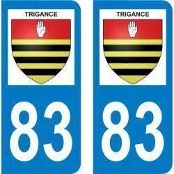 Autocollant Plaque Trigance 83840